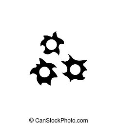 Bullet Hole Flat Vector Icon