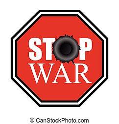 Stop War Signboard Vector