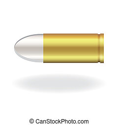 Image of a bullet isolated on a white background.