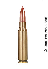 Bullet, isolated on white background
