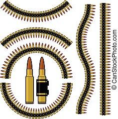 Bullet, machinegun cartridge belt