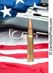 Bullet on flag
