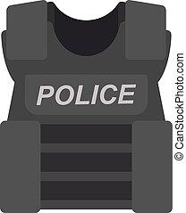 bullet proof vest police