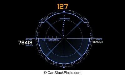 bullet shot & futuristic tracking system,aviation radar GPS...