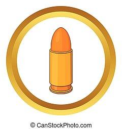 Bullet vector icon