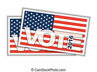 bulleti, votando, concept.
