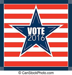 Bulleti, voting concept.