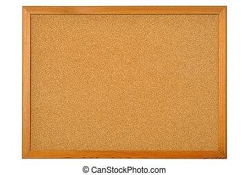 Bulletin Board - Cork bulletin board isolated on white ...