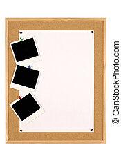 Bulletin board - Cork notice or bulletin board with wood ...