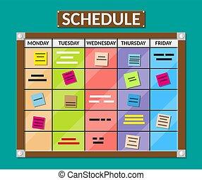 Bulletin board full of tasks on sticky note cards....