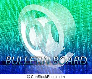 Bulletin board - Internet communication illustration for...
