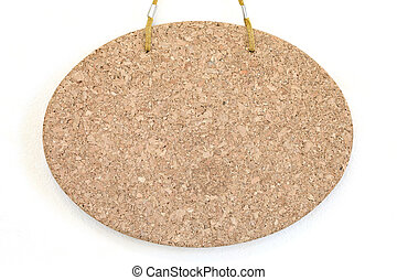 bulletin board - Blank cork board hang on the wall...