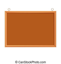 Bulletin board realistic vector illustration isolated on white