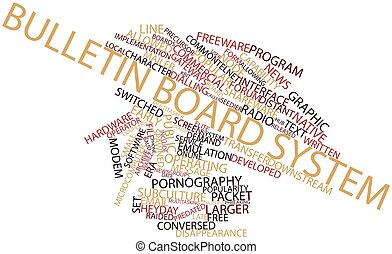 Bulletin board system - Abstract word cloud for Bulletin...