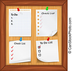 ToDo List and Check List - Bulletin board with ToDo List and...