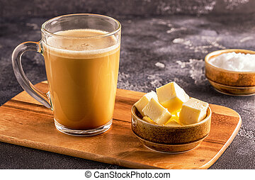 Bulletproof coffee, blended with organic butter and MCT ...