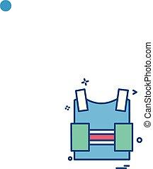 bulletproof vest protection revolution vest icon vector design
