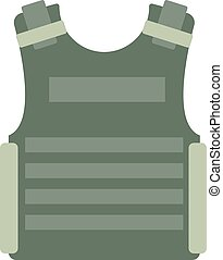 Bulletproof vest vector isolated - Bulletproof vest and...