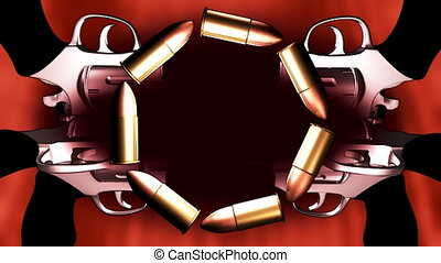 Bullets and Guns Logo Spot Looping Animated Background