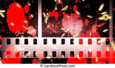 Bullets Blood Film Effects Loop