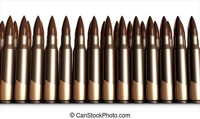 Bullets - Bullet animation, 5.56mm bullets.