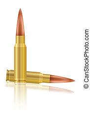 bullets - Bullets on a black background. Vector illustration...