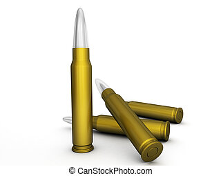 bullets - Bullets isolated on a white background.