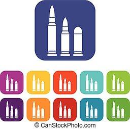 Bullets icons set
