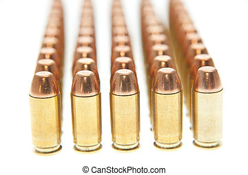 Bullets isolated on white background