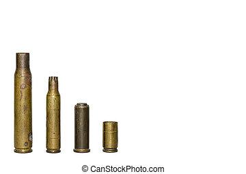 Bullets or Gunshot - The gunshot or bullets on a white...