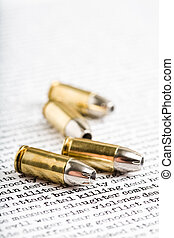 bullets over violence and other words depicting killing,...
