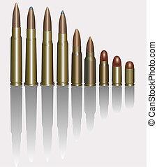 Bullets. Vector illustration.