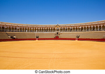 bullfight arena, Sevilla, Spain - bullfight arena, plaza de...