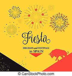 Bullfight Fiesta Spain traditional festival background