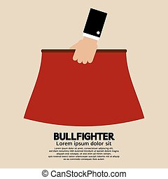 bullfighter., budowla, czerwony