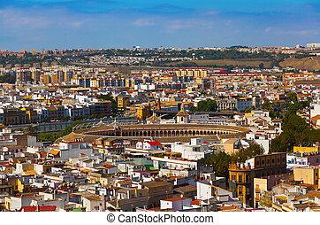 Bullfighting arena at Sevilla Spain
