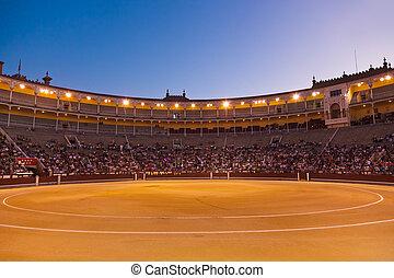Bullfighting arena corrida at Madrid Spain