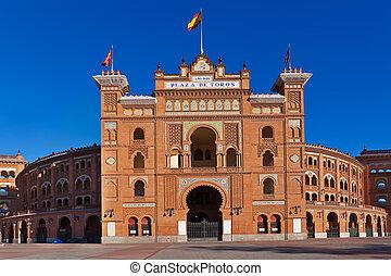 Bullfighting arena in Madrid Spain