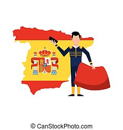 bullfighting classic icon of Spanish culture vector...