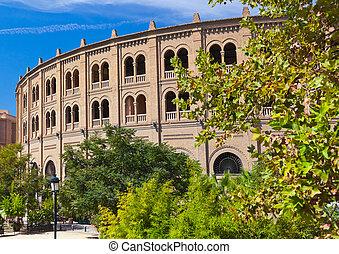 Bullfighting corrida arena in Granada Spain