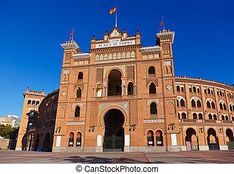 Bullfighting corrida arena in Madrid Spain