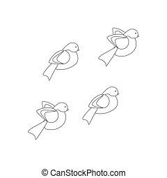Bullfinch bird illustration coloring page - Bullfinch bird ...