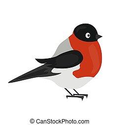 Bullfinch winter bird
