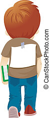 Bullied Boy - Illustration of a Bullied Boy with a Paper...