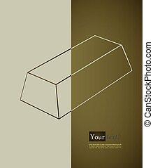 Card with bullion, vector with depth