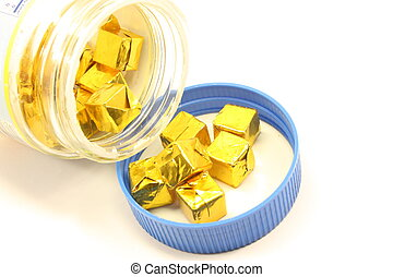 Bullion Cubes - Bullion cubes being opened and ready for...