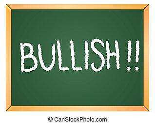 bullish word on chakboard