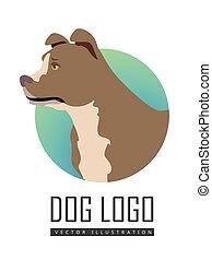 Bullmastiff Dog Logo on White Background - Bullmastiff dog,...
