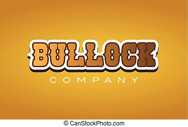 bullock western style word text logo design icon company -...