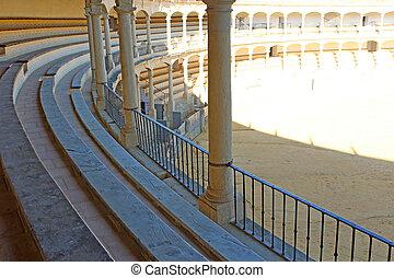bullring detail - photo detail of bullring seats